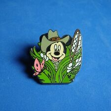 Mickey Mouse Butterfly Catcher Disney Cast Lanyard Pin DLR