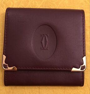 Must de Cartier Burgundy Leather Coin Purse 73184184