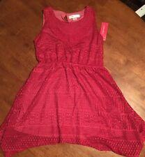 Girls' Sleeveless Crochet Dress Xhilaration Pink M 7/8