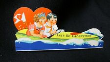Vintage Speed Boat Valentine Card c. 1930s by: Fairfield