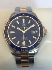 Tag Heuer Aquaracer Blue Gold & Steel 500m 41mm WAK2120 Automatic Men's Watch