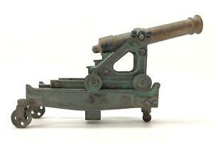 Vintage Brass Cannon Model Navy Warship Deck Coastal Defense Civil War Signal