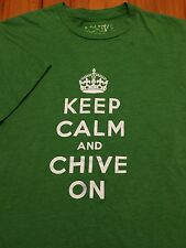 Authentic Chive T-Shirt - Keep Calm And Chive On - KCCO - Small - Chivery Green