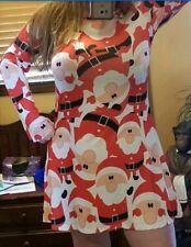 Jewels New Womens Dress Small M Large  Christmas Santa Claus Cupshe red white