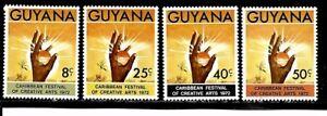 Guyana Stamps- Scott # 164-167/A34-Set-Mint/VLH-1972-OG