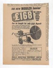 Mobilco Junior Saw Advertisement from a 1955 Australian Newspaper