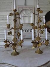 Magnifique paire autel Chandeliers Chandelier Bronze France de 1900