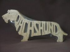Wire Haired Dachshund Dog Amish Wood Toy Puzzle Choice