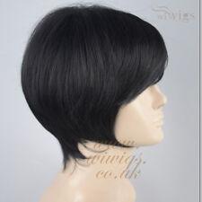 Wiwigs Classic Posh Bob Jet Black Summer Style Skin Top Ladies Wig