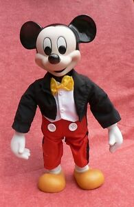 MICKEY. Figurine en porcelaine 34 cm, musical. Schmid
