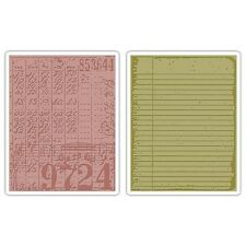 Sizzix Texture Fades Embossing Folders By Tim Holtz - 432886