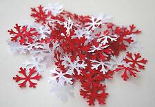Confeti De Mesa-Nordic Copo de Nieve Navidad///hygge/Rojo/Blanco