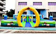 40x30x12 Commercial Interactive Inflatable Sports Game Bounce Obstacle Course