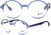 Ray-Ban Damen Herren Brillenfassung RB7075 5601 47mm rund blau verlauf 142 92