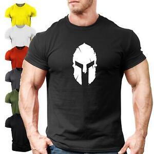 Spartan Helmet | UK Bodybuilding T-Shirt | Gym Clothing Vest Training Motivation