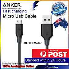 Braided Data Sync Micro USB Charger Charging Cable Cord  Samsung Android Anker