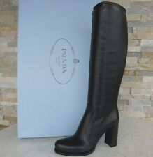 orig Prada Stiefel Gr 39,5 boots Schuhe shoes Kalb 1W158G schwarz NEU UVP 1250 €