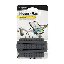 Nite Ize HandleBand Charcoal Universal Smartphone Bike Bar Mount (2-Pack)