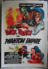 DICK TRACY VS. CRIME INC. 1sh R52 linen-backed movie poster
