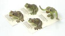 Hagen-Renaker Frogs - Leap Frog, Kissing Frog, Timid Frog, Open Mouth Frog