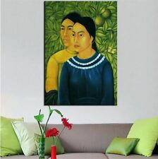 """Frida Kahlo Oil painting on canvas Modern art wall decor Two Women 24x36"""""""
