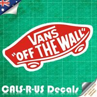 VANS Off the Wall Luggage Car Sticker Decal Skateboard Guitar Motorcycle Matte