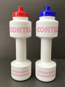 Vintage 2 Contel Telephone Company Water Bottle 1990's Bicycle Weight Dumbell