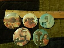 ET Extra-Terrestial [LOT of 5] Movie PINS_BUTTONS (1982) Universal Studios Vtg