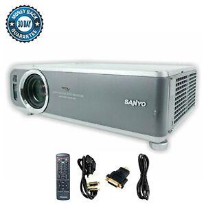 Sanyo PLC-XU60 3LCD Projector 3000 ANSI HD 1080i HDMI-adapter w/Remote
