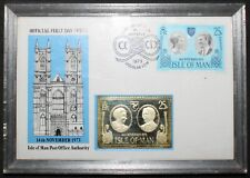 More details for 1973 | isle of man fdc w/ingot | first day covers | km coins