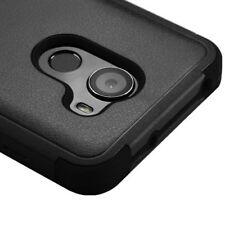 ALCATEL A30 PLUS / WALTERS / T-Mobile REVVL - Hybrid Armor Skin Case Cover Black