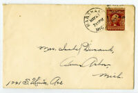 US Stamps # 320D Type II on Cover Rare