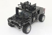 Custom MOC Lego vehicle Night Attack Full armour HUMVEE SWAT Police for minifig