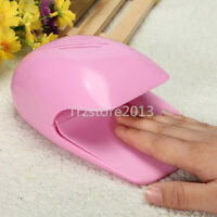 Pink Portable Dryer Mini Fan Blower Lamps For Hand Toe Tips Nail Art Polish