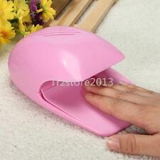 Portable Pink Hand Finger Toe Nail Art Polish Dryer Blower