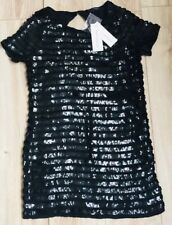 French Connection Black Sequin Dress 8