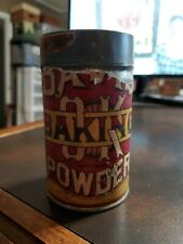 Vintage Davis Baking Powder Tin Can Container  Paper Label