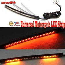 "Harley Davidson 8"" 32led  Flexible Strip Tail Lights Turn Signal Brake Indicator"