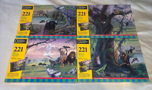 National Geographic Society 221 Pieces Mural Puzzle Set Of 4! Create 1 Mural