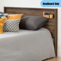 54''/60'' Full/Queen Headboard Bookcase Wooden Farmhouse Bedroom Furniture Brown