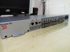 Brocade 300 (24 Active Ports) 8GB Fibre Channel SAN Switch + 24 x 8GB SFP+