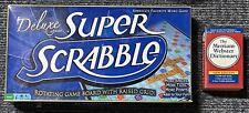 Super Scrabble Deluxe Edition Rotating Game Board w/ Raised Grid Complete Rare!