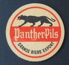 Sous-bock bière PANTHERE PILS panther beermat coaster 19