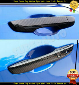For 2016-2020 Honda Civic 4Door CARBON FIBER Paint Handle Cover Overlay w/ 2 SM