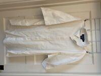 Mens size XL white ralph lauren dress shirt short sleeve EUC