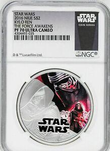 2016 Niue $2 Star Wars: The Force Awakens Kylo Ren Silver Coin NGC PF70 - White