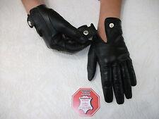 DAMEN-SCHWARZ-LEDER  Handschuhe