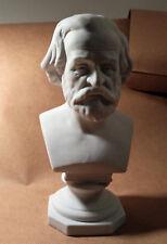 Buste porcelaine biscuit de saxe blanc, Verdi, musicien, 21 cm de haut