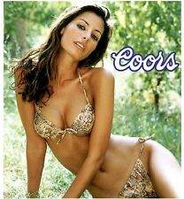Coors Beer Girl In Lion Print Bikini Refrigerator / Tool Box Magnet