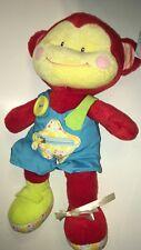 """Russ Red And Yellow Monkey NEW 13"""" Plush Stuffed Animal"""